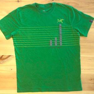 Arc'teryx rainfall bar graph men's tee shirt